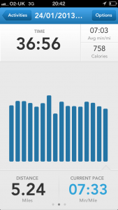 Runkeeper screen shot 1