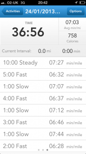 Runkeeper screenshot 2