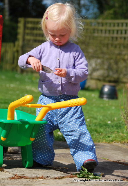 Matilda with wheelbarrow
