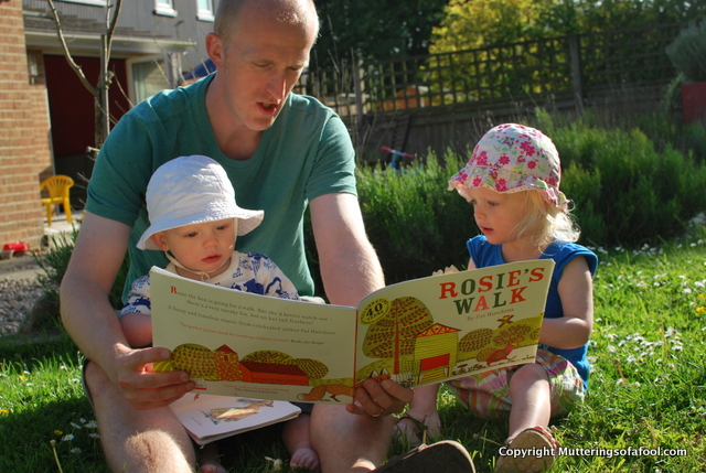 Ben reading to Henry and Matilda