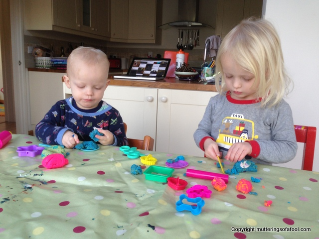Toddler play dough time