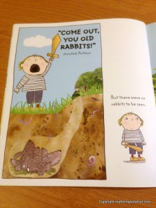 Shouty Arthur inside page