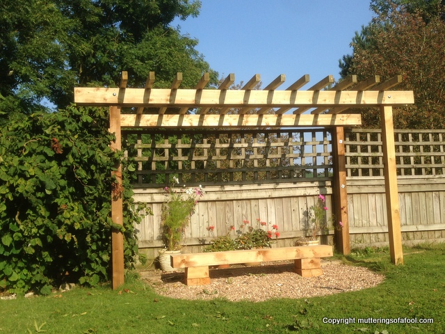 Finished pergola