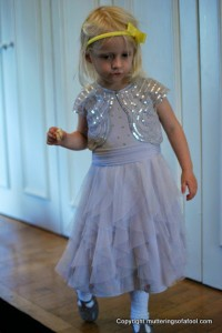 Matilda in bridemaid dress