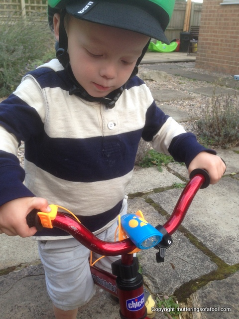 Mini Hornet on balance bike