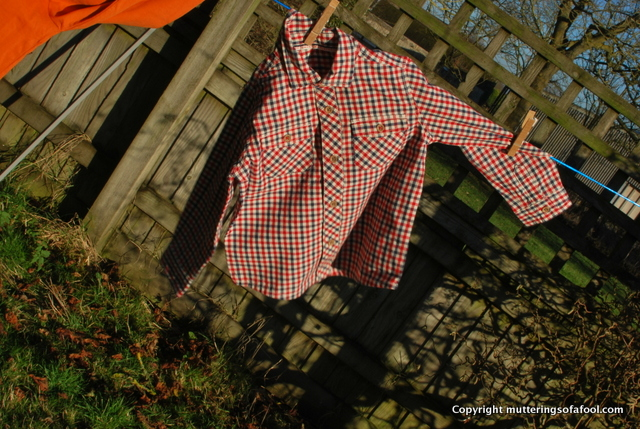 Nutmeg checked shirt