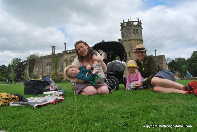 On the lawns at Lacock Abbey