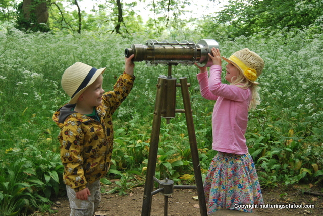 Using a telescope at Lacock