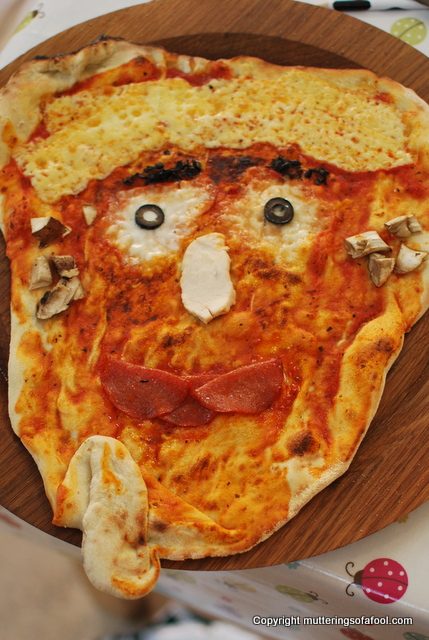 Pizza in the shape of my face