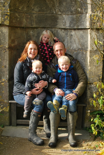 Family photo at Dyrham park
