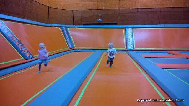 Running at Better trampoline park swindon