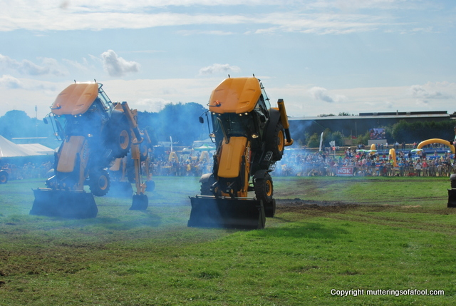 Dancing diggers at CarFest South