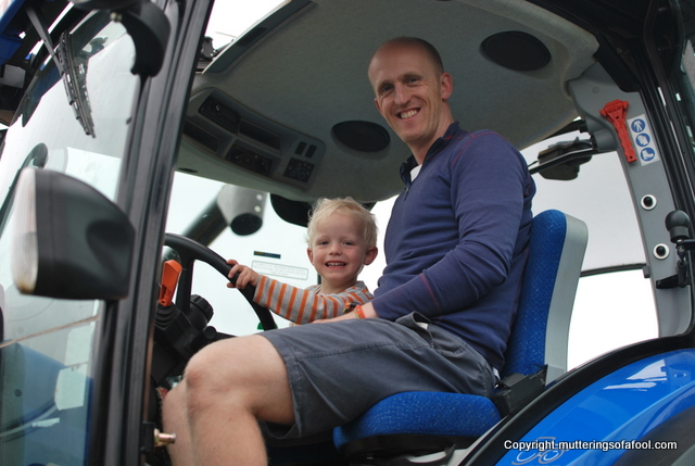 In Tractor at CarFest South
