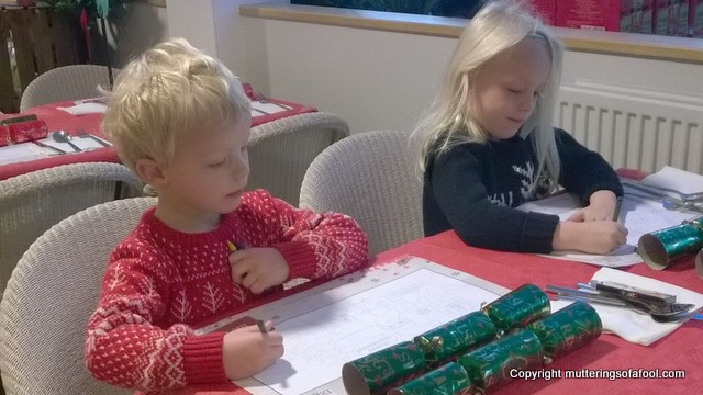 colouring at wyevale christmas